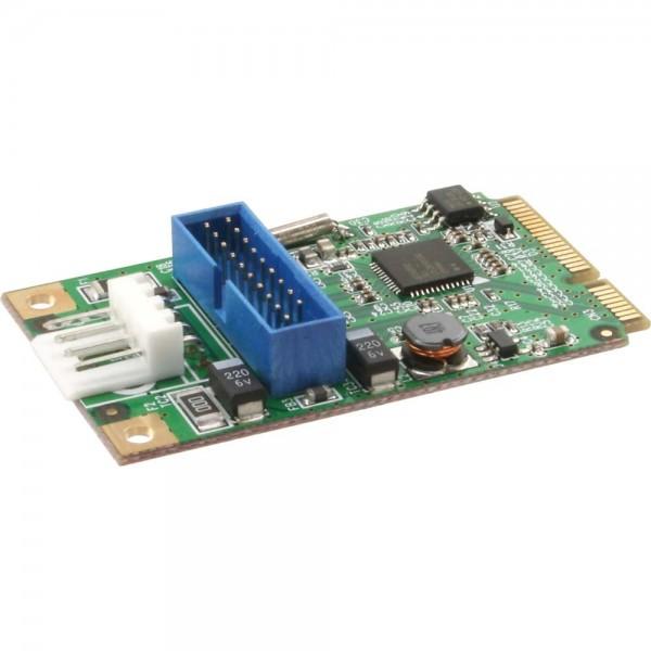 InLine® Mini-PCIe Karte, 2x USB 3.0