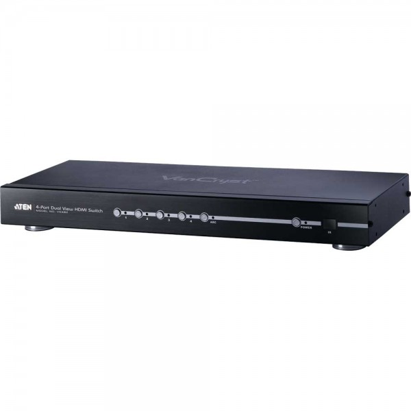 ATEN VS482 Video-Splitter HDMI 4-fach Umschalter, Dual View