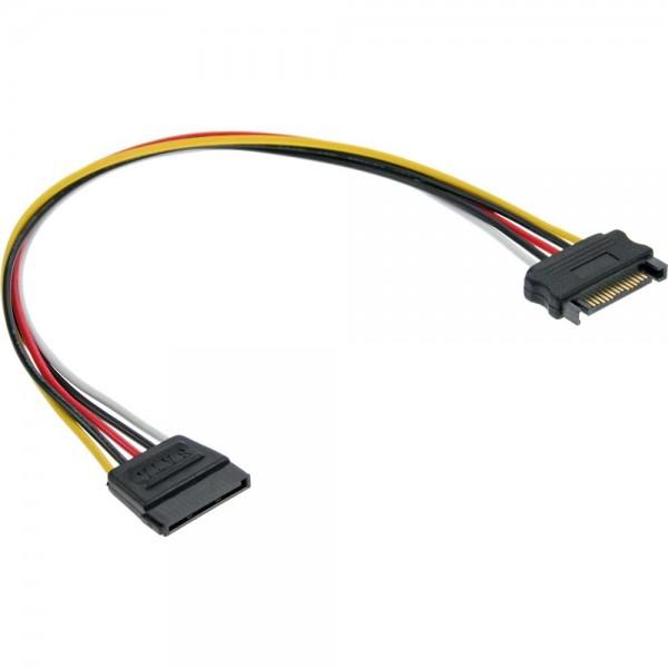 InLine® Strom Verlängerung intern, SATA Stecker / Buchse, 0,3m