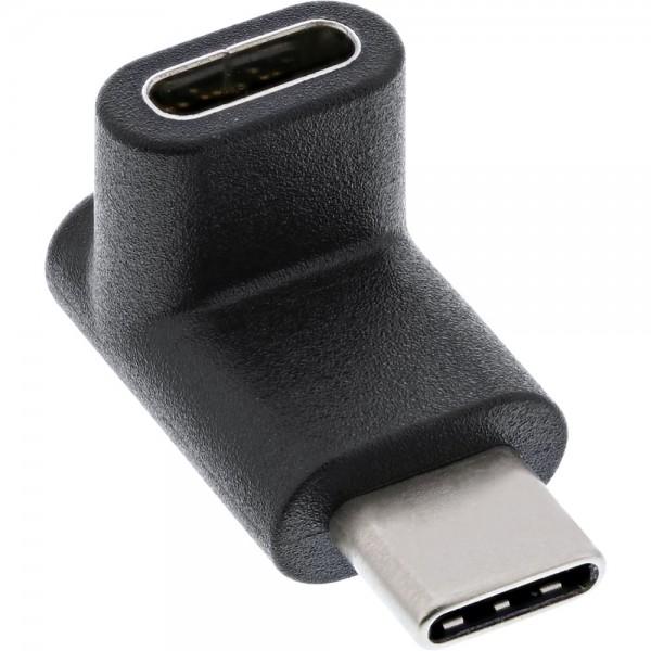 InLine® USB 3.1 Adapter, Typ C Stecker an C Buchse, oben/unten gewinkelt (Gen.2)