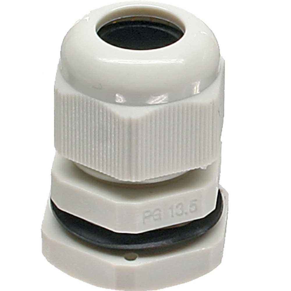 InLine® Kabeldurchführung PG 13.5 Nylon IP68 6-12mm, grau, 10 Stück ...