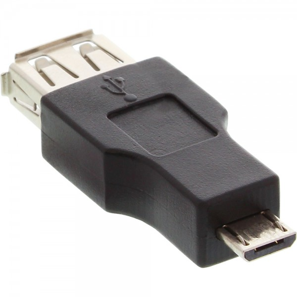InLine® Micro-USB OTG Adapter, Micro-B Stecker an USB A Buchse