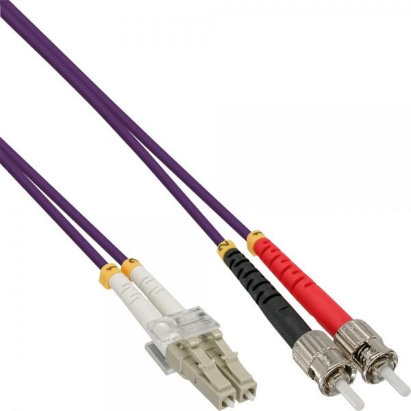 InLine® LWL Duplex Kabel, LC/ST, 50/125µm, OM4, 20m