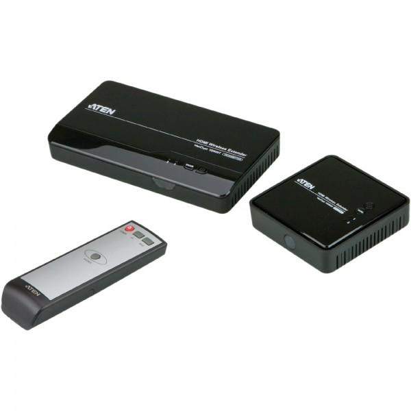 ATEN VE809 Video-Extender, HDMI-Wireless Verlängerung bis 30m, 3D, FullHD und 5.1 Sound, mit Fernbedienung