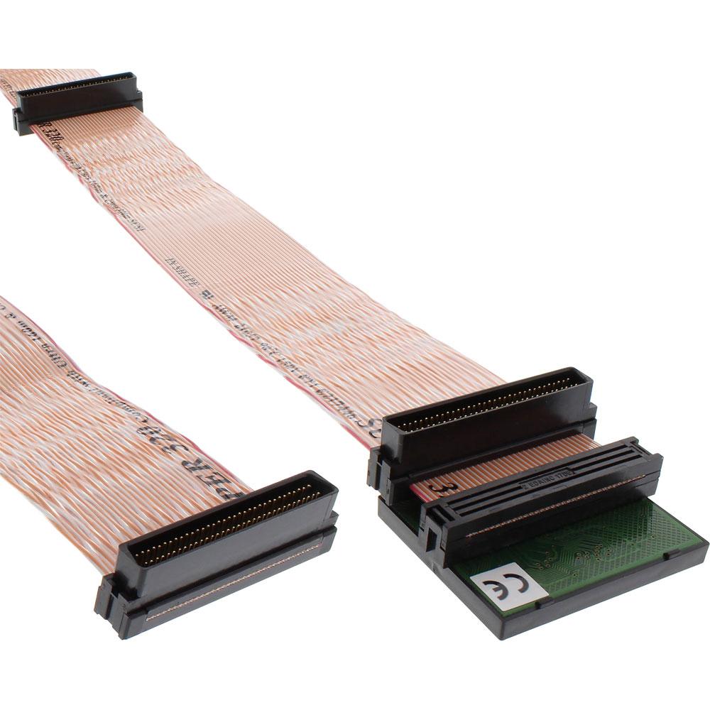 InLine® SCSI U320 Flachbandkabel, 68pol, 3 Abgriffe, für 2 Geräte ...