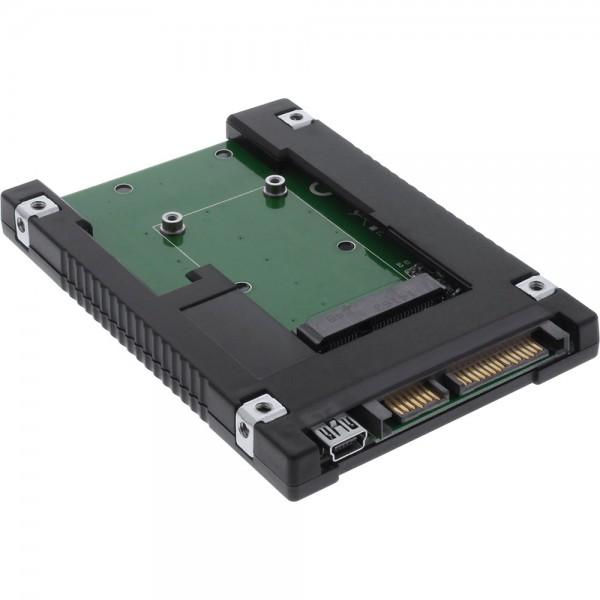 """InLine® Laufwerksadapter 2,5"""", SATA auf mSATA SSD"""