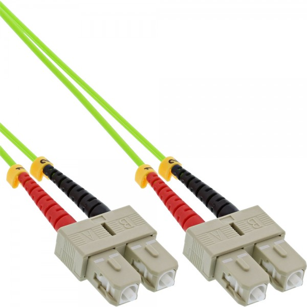 InLine® LWL Duplex Kabel, SC/SC, 50/125µm, OM5, 3m