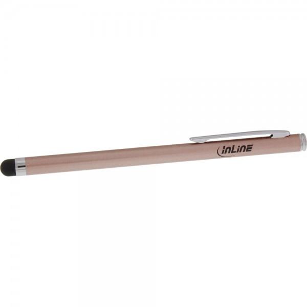 InLine® Stylus, Stift für Touchscreens von Smartphone und Tablet, rose