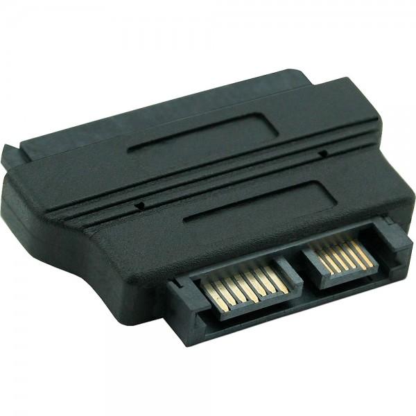 InLine® Adapter SATA, SATA 22pol. Stecker (7+15) auf Slimline SATA 13pol. Buchse (7+6)