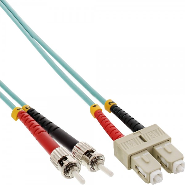 InLine® LWL Duplex Kabel, SC/ST, 50/125µm, OM3, 5m