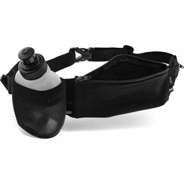 InLine® Sport Gürteltasche Hydratic mit Trinkflasche, schwarz, stretch, Taillenumfang 70-125cm